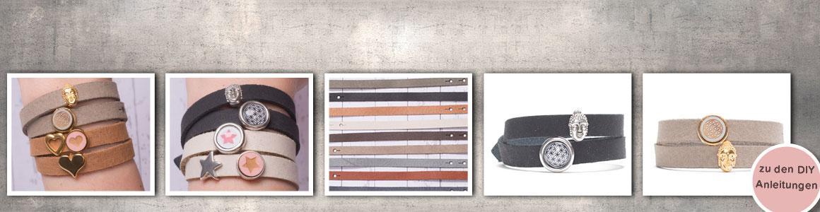 Craft Lederarmbänder für Sliderperlen (10 mm)
