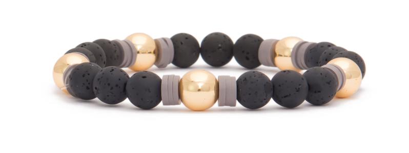 Armband mit Hämatitperlen Kugeln goldfarben Polaris und Katsuki