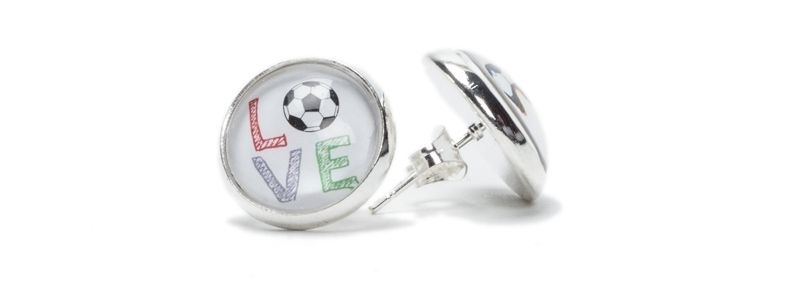 Fußball-Love Ohrstecker Love