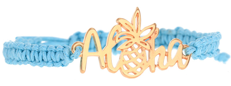 Tropische Armband mit Makrameeknoten Aloha