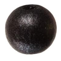 Holzperle Kugel, 8 mm, schwarz