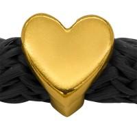 Grip-It Slider Herz, für Bänder bis 5mm Durchmesser, vergoldet