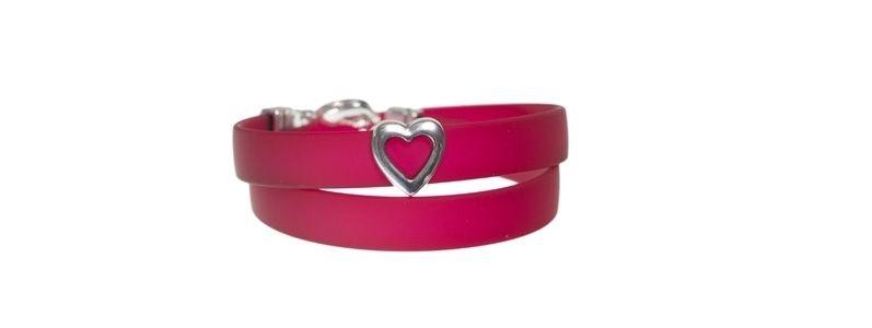 PVC-Armband mit Schiebeperle Herz