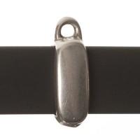 Anhängerhalter, viereckig,  für breite Bänder (10 x 2 mm), versilbert