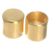 Endkappe ohne Öse, Innendurchmesser 5 mm, 6 x 6 mm, vergoldet, geeignet für Segelseil