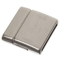 Magnetverschluss für flache Bänder 24 x 24,5 mm, versilbert
