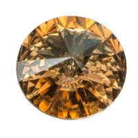 Swarovski Rivoli (1122), 12 mm, crystal golden shadow