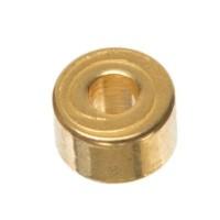 Metallperle Scheibe, ca. 3 x 2 mm, vergoldet