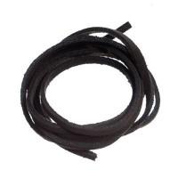 Velourlederband, 2 x 2,8 mm, Länge ca. 1 m, schwarz