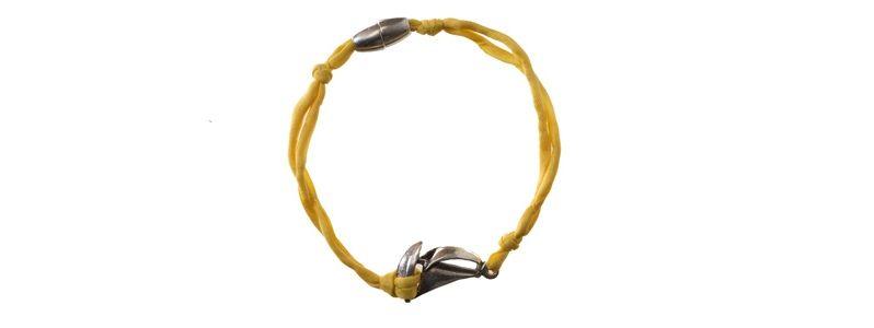 Seiden-Armband Gelb Schiff