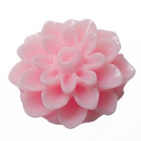 Kunststoffcabochon Dahlie, 15 x 8,5 mm, rosa