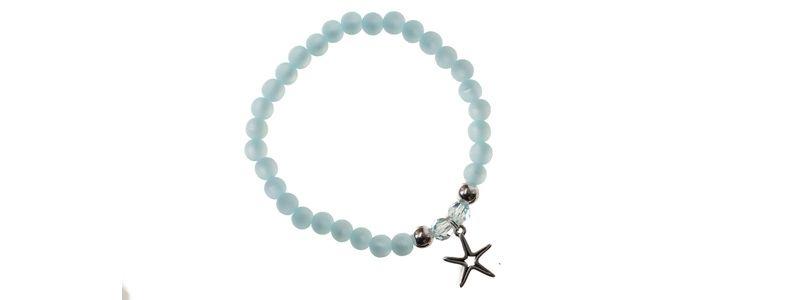Polaris-Armband Pastellblau Stern
