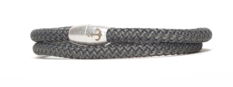 Armband mit Segelseil und Magnetverschluss dunkelgrau