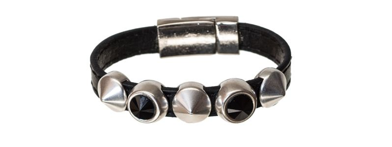 Lederlook Armband Jet