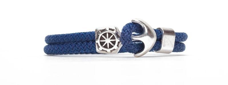 Anker & Segelseil-Armband Blau
