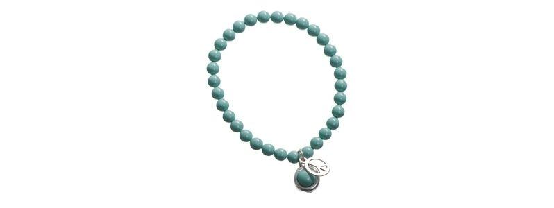Armband mit Crystal Pearl Cabochons Jade