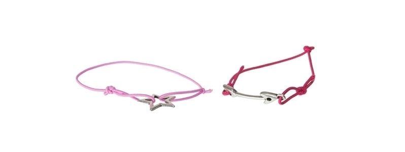 Armbänder  mit Metallanhängern Stern & Pfeil
