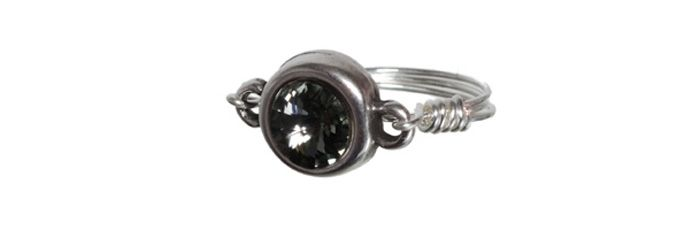Ring Rivolii-Fassung Black Diamond