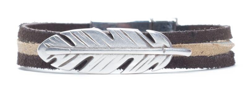 Ethno-Armband Feder