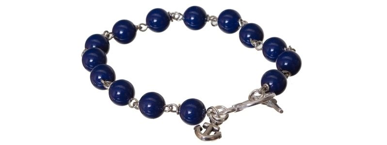 Armband mit Crystal Pearls Dark Lapis