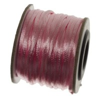 Makramee-Band, Durchmesser 2 mm, 10 Meter-Rolle, rosa