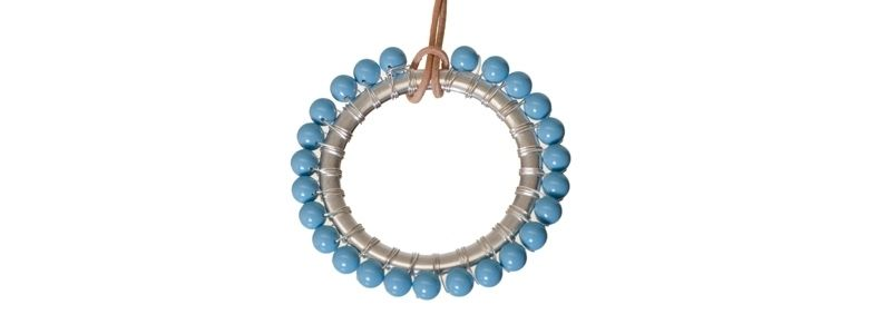 Anhänger mit Crystal Pearls Turquoise