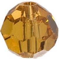 Swarovski Elements, rund, 6 mm, topaz