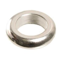 Metallperle Ring ca. 12 mm, versilbert