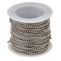 Kugelkette, Durchmesser 1,5 mm, Rolle mit 10 m, silberfarben
