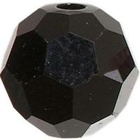 Swarovski Elements, rund, 6 mm, jet