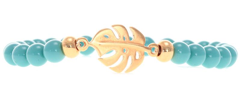Tropische Armband mit Bracelet Bar Monstera