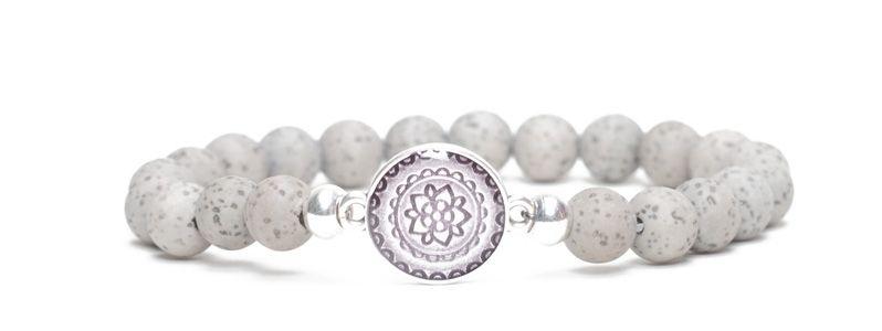Ethno-Armband Mandala grau