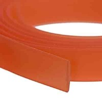 Flaches PVC-Band 10 x 2 mm, orange, 1 m