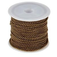 Kugelkette, Durchmesser 1,5 mm, Rolle mit 10 m, bronzefarben