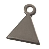 Metallanhänger Dreieck, 11 x 9 mm, versilbert