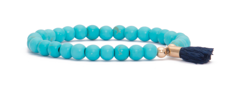 Armband mit vergoldeten Perlen Kugeln und Edelsteinen