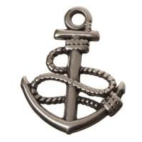 Metallanhänger Anker, 24 x 18 mm, versilbert