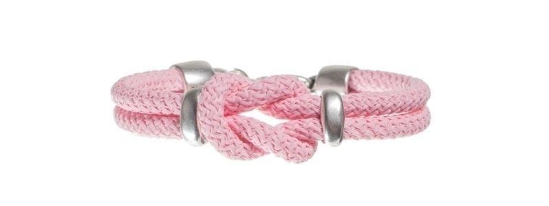Kreuzknotenarmband Rosa