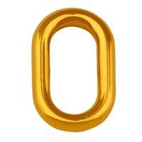 Metallanhänger Oval, 21 mm, vergoldet