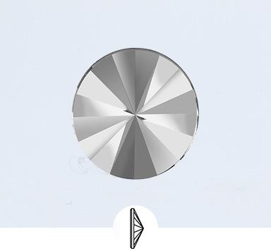 Preciosa 14 mm Rivoli Flat Back Stone