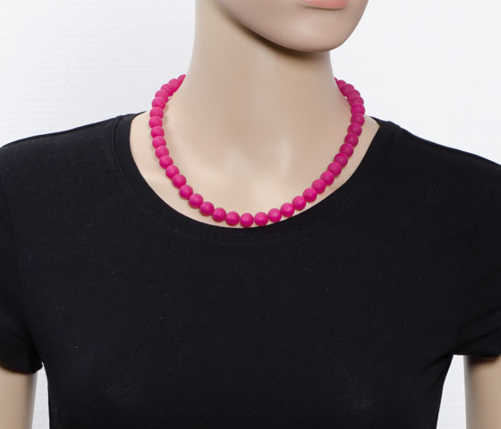 Eine Perlengröße - verschiedene Kettenlängen (46cm)