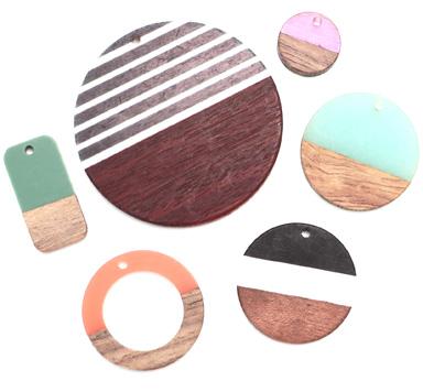Holz-Resin-Perlen und -Anhänger
