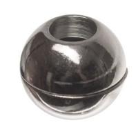 Magnetverschluss, Kugel, 11 x 11 mm, Innen 5 mm, silberfarben