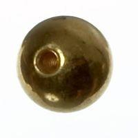 Drehteil Kugel, 6 mm, vergoldet