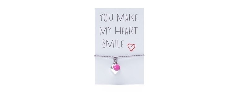Wunscharmband Herz Pink