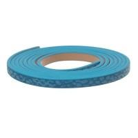 Synthetikband, flach, Breite 5 mm, Länge ca. 1 m, Schlangenprint hellblau