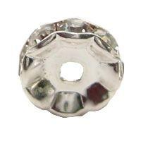 Strass-Rondell, rund, 8 mm, versilbert