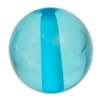 Polaris Kugel 10 mm transparent, türkisblau