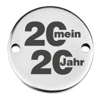 """Coin Armbandverbinder """"Mein Jahr 2020"""", 15 mm, versilbert, Motiv lasergraviert"""