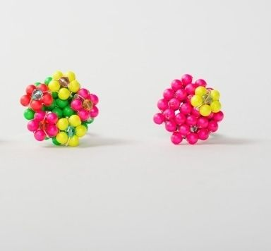Blumenwiesen-Ringe mit Perlen und Modellierdraht